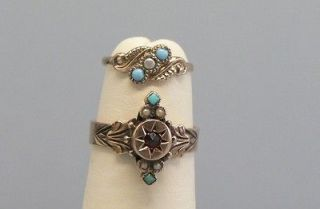 Incredible Victorian 14K / 10K Tiny Rings Mother & Daughter Persian