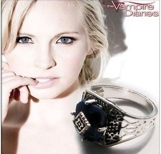 The Vampire Diaries Caroline Ring gothic Lapis Silver Plated Gift