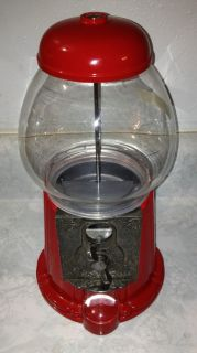 Vintage Red Carousel Gumball Machine 1985 Ford Gum & Machine Co. No 08