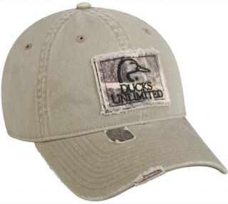 Outdoor Cap Ducks Unlimited Khaki/Camo Cap Unstructured Hat