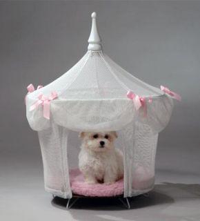 Sugarplum Princess White Dog Cat Pet Bed Furniture