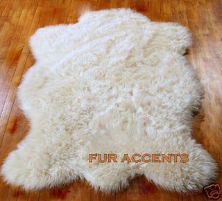 Newly listed PLUSH BEAR SKIN AREA RUG FAUX FUR ACCENT FAKE SHEEPSKIN