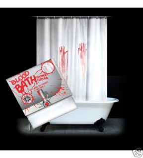 Blood Bath Shower Curtain Horror Fans Unusual Gift