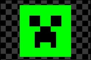 Creeper Face Black/Lime Green Decal Vinyl Sticker 3 Mouse Diamond Pad