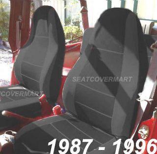 Neoprene Black Color Car Seat Cover Full Set YJ8796127 (Fits Jeep