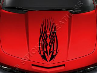 128 HOOD DECAL Tribal Vinyl Graphic Sticker Car Truck