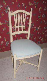 Ethan Allen Wheatback Chair 6312   Legacy Antiqued Ivory Collection