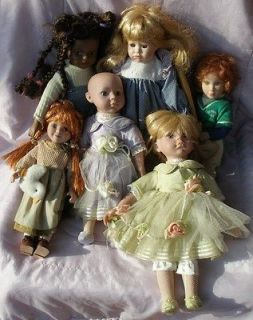 Lot of 6 Diana Effner Doll Cracker Barrel Doll AA Porcelain doll