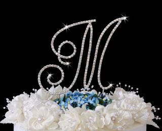 Renaissance Monogram Wedding Cake Top Letters & Hearts