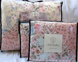 Noble Excellence CECILE Pastel Full Queen Cotton Quilt + Shams 3 PC
