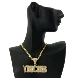 ICED OUT YMCMB YOUNG MONEY CASH MONEY PENDANT 4mm &18 LINK CHAIN