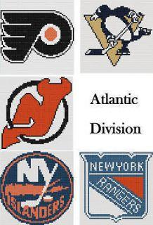 Pick 1 Hockey Team Logo 16X16 Latch Hook Kit/ Message Me Your Choice