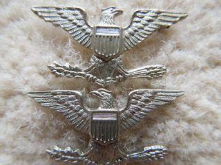 US Navy Captain Marine Colonel shirt collar rank insignia USMC eagle