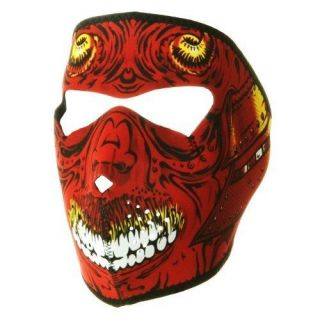in 1 Reversible Motorcycle Biker, Ski Mobile Neoprene Face Mask