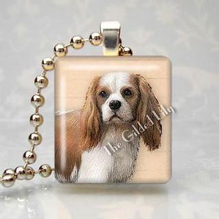 CAVALIER KING CHARLES SPANIEL DOG BREED PET Scrabble Tile Pendant