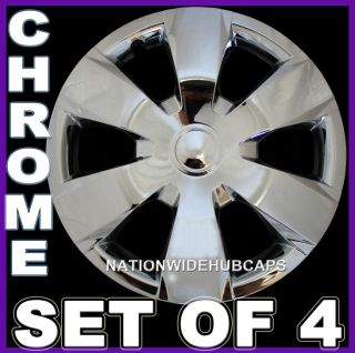CHROME Hub Caps Wheel Covers Rim Cap Lug Cover Hubs for Steel Wheels
