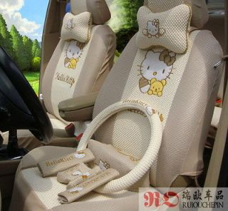 Hello Kitty Seat Cover for Cars Set 19pcs CUSHION Steering wheel
