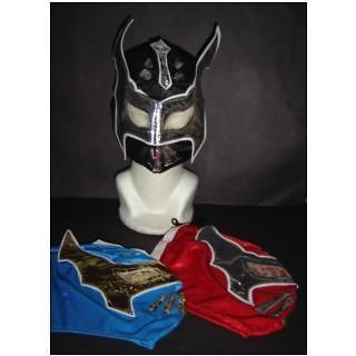LOT of 3 SIN CARA BLUE* BLACK* RED WRESTLING MASKS KIDS niños FREE