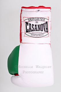 CASANOVA PRO BOXING GLOVES   FULL LEATHER w/ ATTACHED THUMBS