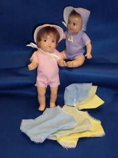 Playsuits & bonnets DIONNE QUINTUPLETS 6 8 dolls Quints Vintage