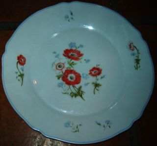 ARC ARCOPAL FRANCE PORCELAIN FLOWER DINNER PLATE DISH