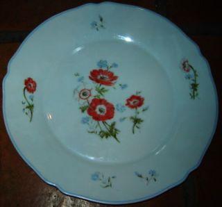 ARC ARCOPAL FRANCE PORCELAIN FLOWER DINNER PLATE DISH