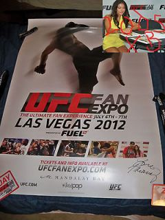 Newly listed Arianny Celeste signed EXCLUSIVE UFC FAN EXPO 2012 poster