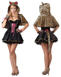 Womens Frisky Kitty Sexy Cheetah Halloween Costume