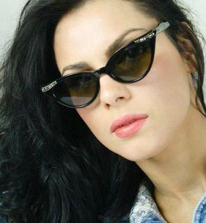 Style Black Retro Frames Very Sexy Cat Eye Women Sunglasses Shades