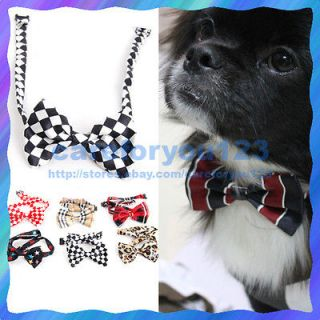 Hot Random Color New Dog Cat Pet Collar Accessory Bow Tie Necktie New