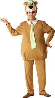 Adult Male Yogi Bear LICENSED Hanna Barbera Fancy Dress Costume (Extra