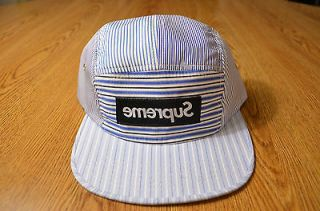 New Supreme Box Logo CDG Comme Des Garcons Black Camp Cap 5 Panel