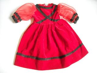 Doll Clothing 18 Dress American Girl Chatty Cathy Red & Black Velvet