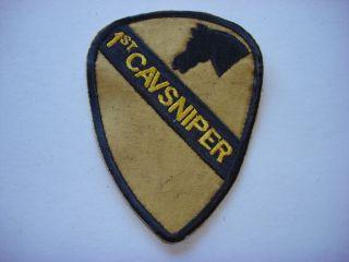 Vietnam War US 1st Cavalry Division SNIPER Team Patch