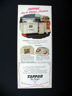 Tappan Gas Ranges Range oven kitchen stove 1946 print Ad advertisement