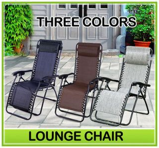 Zero Gravity Lounge Chairs Recliner Outdoor Beach Pool Garden Folding