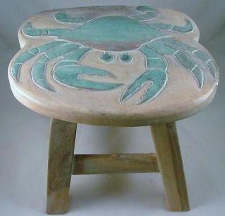 Chesapeake Bay Blue Crab Child Wooden Step Stool