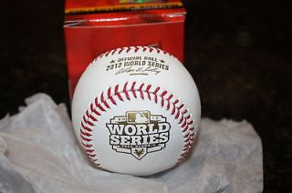Rawlings Official 2012 World Series Baseball New in Red Rawlings Box