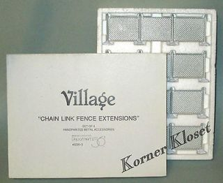 Village Chain Link Fence Extensions   Set of 4 Sections   Dept 56