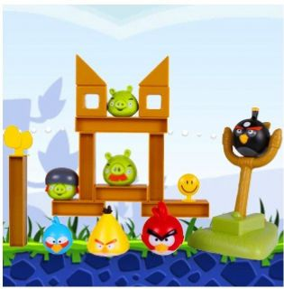 Real Sound Effect Catapult Angry Birds Knock on Wood Game set