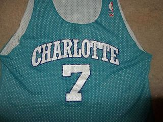Vintage 1980s Charlotte Hornets Jersey Number 7 Near Mint Approx. Size