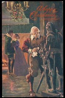 ROMANCE Suit Of Armour Raphael Tuck Greeting Postcard CATON WOODVILLE