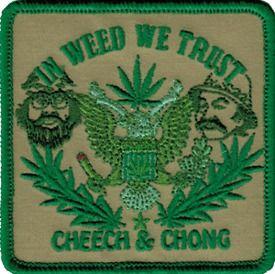 58013 Cheech and & Chong In Weed We Trust Pot Marijuana Grass 420 Iron