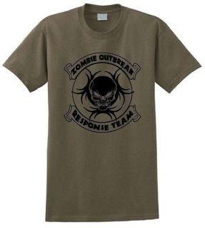 Zombie Outbreak Response Team T Shirt Rescue Horror Dead Monster