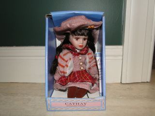 Cathay Collection Porcelain Doll Baileya in Hat and Jacket, Only