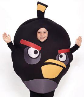 Kids Boys Girls Angry Birds Black Bird Halloween Costume