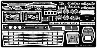 MODEL CAR GARAGE 2127 1962 CHEVY IMPALA SS DETAIL SET FOR AMT KIT