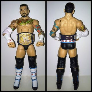 WWE Mattel Elite 16 CM Punk Custom WWE Belt Wrestling Action Figure