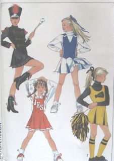Young Junior Teen Cheerleader Majorette Costume Sewing Pattern 8782