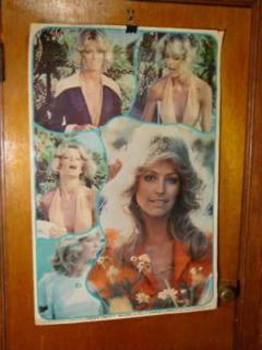 1976 Rare Farrah Fawcett Majors Charlies Angels Poster